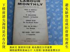 二手書博民逛書店LABOUR罕見MONTHLY APRIL 1961Y26008