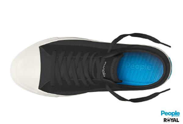 PEOPLE 新竹皇家 The Phillips 黑色 網布 輕量 休閒鞋 男女款 NO.A6774