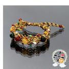 五行珠8m五色線手鍊{網狀} +擋煞保平安《十相字在》貼紙(5張) 【十方佛教文物】