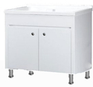 【麗室衛浴】媽媽的好幫手  實心人造石活動式洗衣檯組P-212  W90*D55*H60