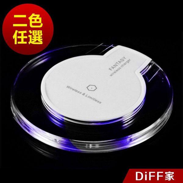【DIFF】發光無線充電盤 無線充電支架 內附micro傳輸充電線
