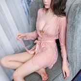 性感睡衣女夏冰絲情調衣人夏季小胸睡裙火辣情趣內衣激情套裝成人