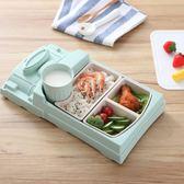 便當盒 寶寶餐盤分格兒童餐具分隔創意卡通可愛家用飯碗防摔帶叉勺筷套裝 雙11狂歡購物節