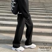 韓版寬鬆加厚直筒褲男士秋冬新款潮流百搭保暖垂感休閒褲 伊莎gz