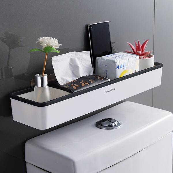 399免運 馬桶置物架上方衛生間浴室洗手間壁掛免打孔多功能廁所收納架神器