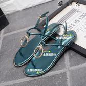 夾趾涼鞋女 一字帶簡約羅馬鞋夾腳涼鞋 SDN-4789