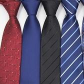 領帶拉錬式領帶男正裝商務襯衫職業韓版易拉得學生結婚藍黑色懶人男士