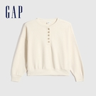 Gap女裝 簡約半開襟亨利領上衣 626...