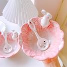 甜品碗 創意卡通兔子碗單個可愛少女心水果沙拉甜品碗學生宿舍用泡面個性【快速出貨八折下殺】