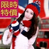 圍巾+毛帽+手套羊毛三件套-可愛明星同款英倫風保暖女配件63n48[巴黎精品]