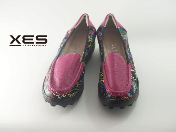 XES 插畫文青懶人鞋 大豆豆設計 女款 桃色
