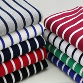 純棉色織橫條紋DIY手工服裝面料 經典彈力小毛圈間條休閒衛衣布匹(快速出貨)