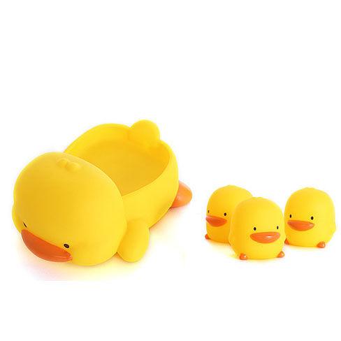 黃色小鴨 水中有聲玩具組