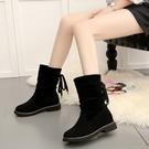 雪地靴內增高女鞋加絨保暖靴子女中筒靴冬季新款韓版棉鞋女靴