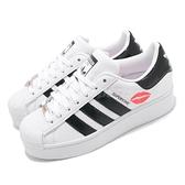 adidas 休閒鞋 Superstar Bold W 黑 白 唇印 女鞋 增高 厚底 【ACS】 FZ3789