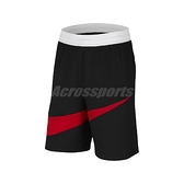 Nike 短褲 Dri-FIT Basketball Shorts 黑 紅 男款 籃球褲 運動休閒 【ACS】 BV9386-010