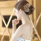 髮梳插梳丸子頭盤髮器韓國髮飾花朵髮簪瀏海梳髮卡媽媽款優雅頭飾 小城驛站