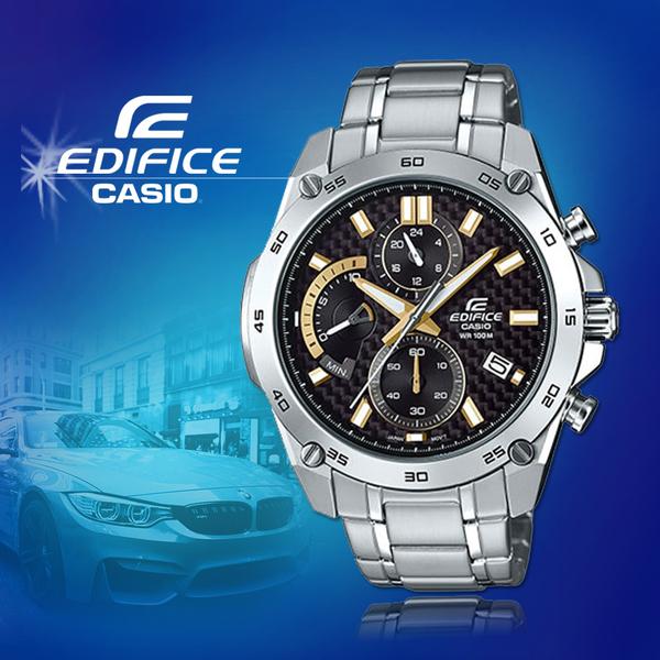 CASIO手錶專賣店 CASIO EDIFICE_EFR-557CD-1A9_礦物玻璃_碼錶_不鏽鋼錶帶_男錶