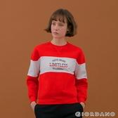 【GIORDANO】 女裝YOUTH大學T恤 - 01 烈焰紅