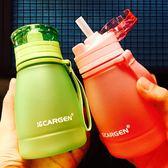 夏季兒童吸管杯女可愛寶寶塑料水瓶小孩學生隨手水壺檸檬杯子