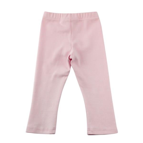 【愛的世界】彈性鬆緊帶素色緊身長褲-粉/3~4歲-台灣製- ★秋冬下著 最後出清