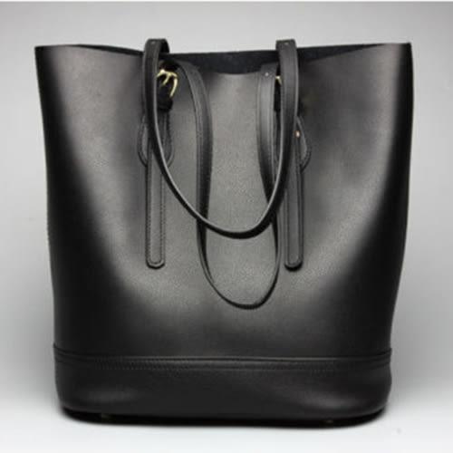 【O-ni O-ni】韓版真皮品味設計側肩包JDL-3-165黑色