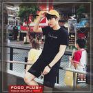 PocoPlus 夏季新款男士圓領T恤 英文字母刺繡 打底襯衫 時尚休閒 T558