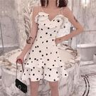 吊帶裙 法式復古裙波點吊帶氣質女神范衣服超仙法國小眾洋裝很仙的裙子