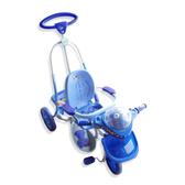【奇買親子購物網】Mother's Love 後控可搖式IC三輪車(藍/黃橘)