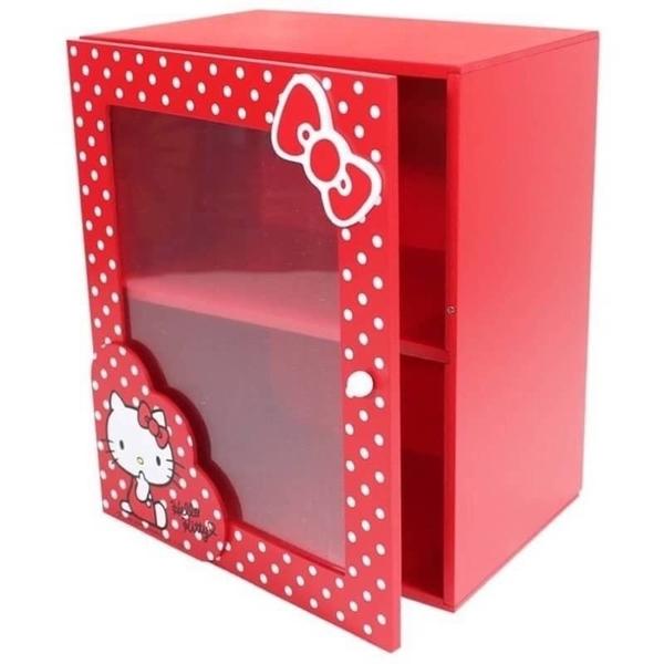 【震撼精品百貨】Hello Kitty_凱蒂貓~HELLO KITTY原點拉門收納櫃-紅*38632