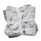 丹麥 DONE BY DEER 100%純棉嬰兒包巾(小象-兩件組) 灰色