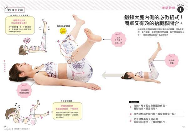 居家鍛鍊超簡單:輕鬆擁有川字肌、平坦腹部、纖細美腿!
