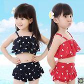 兒童游泳衣女童女孩泳裝嬰兒男童比基尼套裝寶寶分體小中大童泳褲 小天使