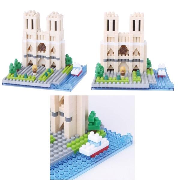 Nanoblock 迷你積木 CATHÉDRALE NOTRE-DAME DE PARIS 巴黎聖母院 NBH-093