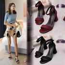 高跟涼鞋涼鞋女仙女風新款夏季中跟百搭網紅高跟鞋 【全館免運】