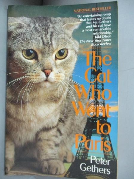 【書寶二手書T7/地理_B91】Cat Who Went to Paris_Gethers, Peter