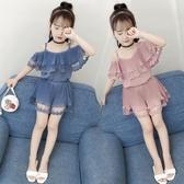 女童夏裝新款時髦套裝小女孩短褲韓版時尚潮洋氣兒童夏季童裝  9號潮人館