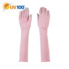 UV100 防曬 抗UV-條紋觸控五分手...