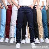 夏季休閒褲男士直筒修身商務西褲男寬鬆黑色褲子男寬鬆長褲薄款潮 『歐尼曼家具館』