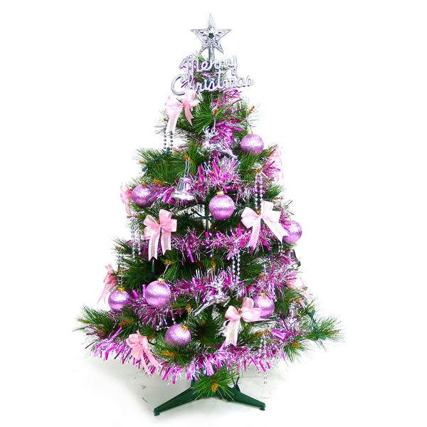 【摩達客】台灣製3尺/3呎(90cm)特級綠松針葉聖誕樹 (+紅金色系配件)(不含燈)