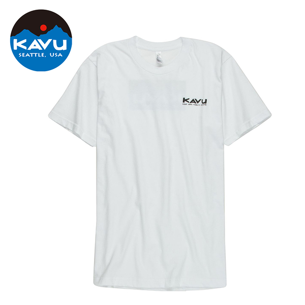 西雅圖 KAVU Klear Above Etch Art 棉質 T-Shirt 白色 #847