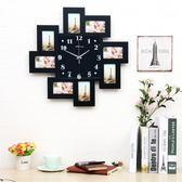 北歐鐘錶客廳創意個性田園藝術時鐘掛錶相框掛鐘美式簡約現代靜音xw 全館免運