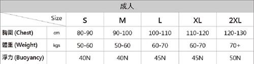 成人款 三明治網布Neoprene/NBR 救生衣   ANVT-13M-SDWH-ISO   【AROPEC】