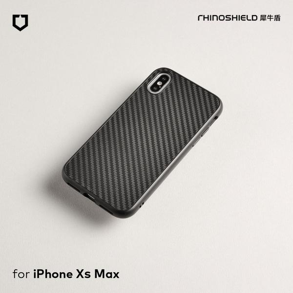 犀牛盾SolidSuit碳纖維防摔背蓋手機殼 - iPhone XS Max