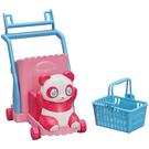莉卡娃娃配件 莉卡歡樂購物熊貓推車_LA14782