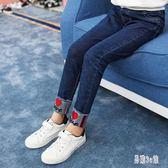 女童牛仔褲 2019秋季新款加韓版時尚氣質潮流洋氣女孩長褲  YN1182『易購3c館』