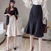適合胯大腿粗中長裙新品春裝高腰復古a字蓬蓬百褶半身裙 - 風尚3C