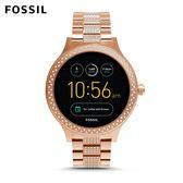 FOSSIL VENTURE 奢華玫瑰金不鏽鋼觸控螢幕智慧手錶 女 FTW6008
