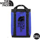 【The North Face EXPLORE FUSEBOX後背包26L《藍》】3KYF/雙肩背包/書包/防水背包/旅遊