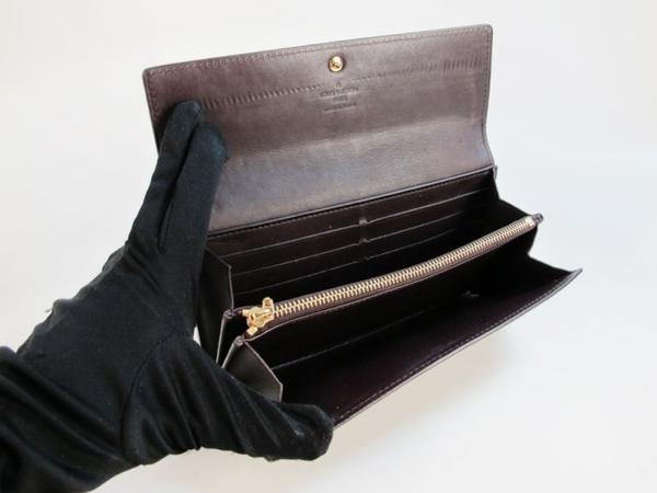 【巴黎站二手名牌專賣店】*現貨*LV 路易威登 真品*M93524 Verins深紫色漆皮印花暗釦長夾 錢包
